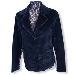 One Girl Who Jacket Med Black Microcord Cardigan